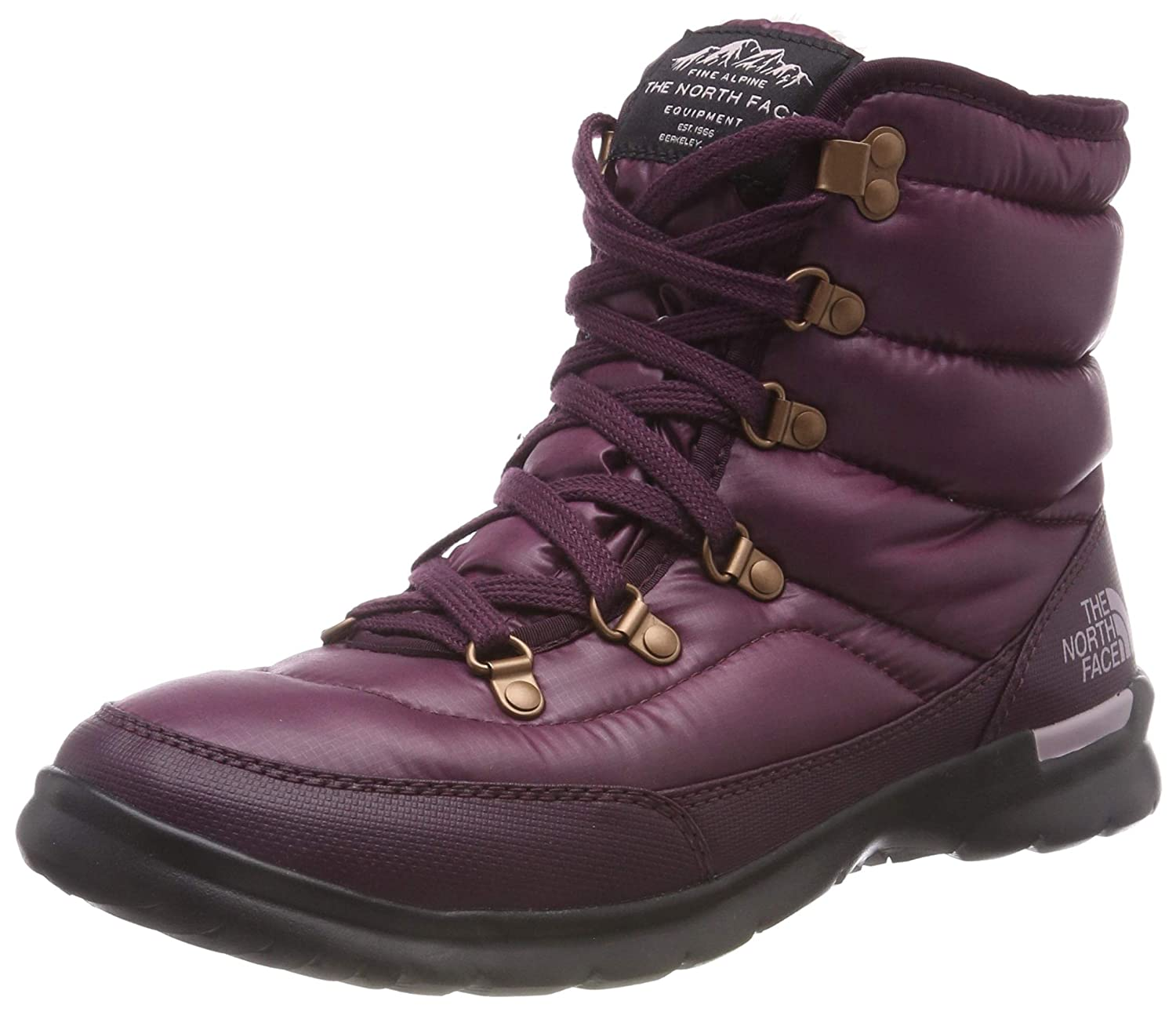 The North Face Thermoball Lace II, Stiefel de Nieve para damen braun (Shiny Fig Vintage Weiß 5ug)