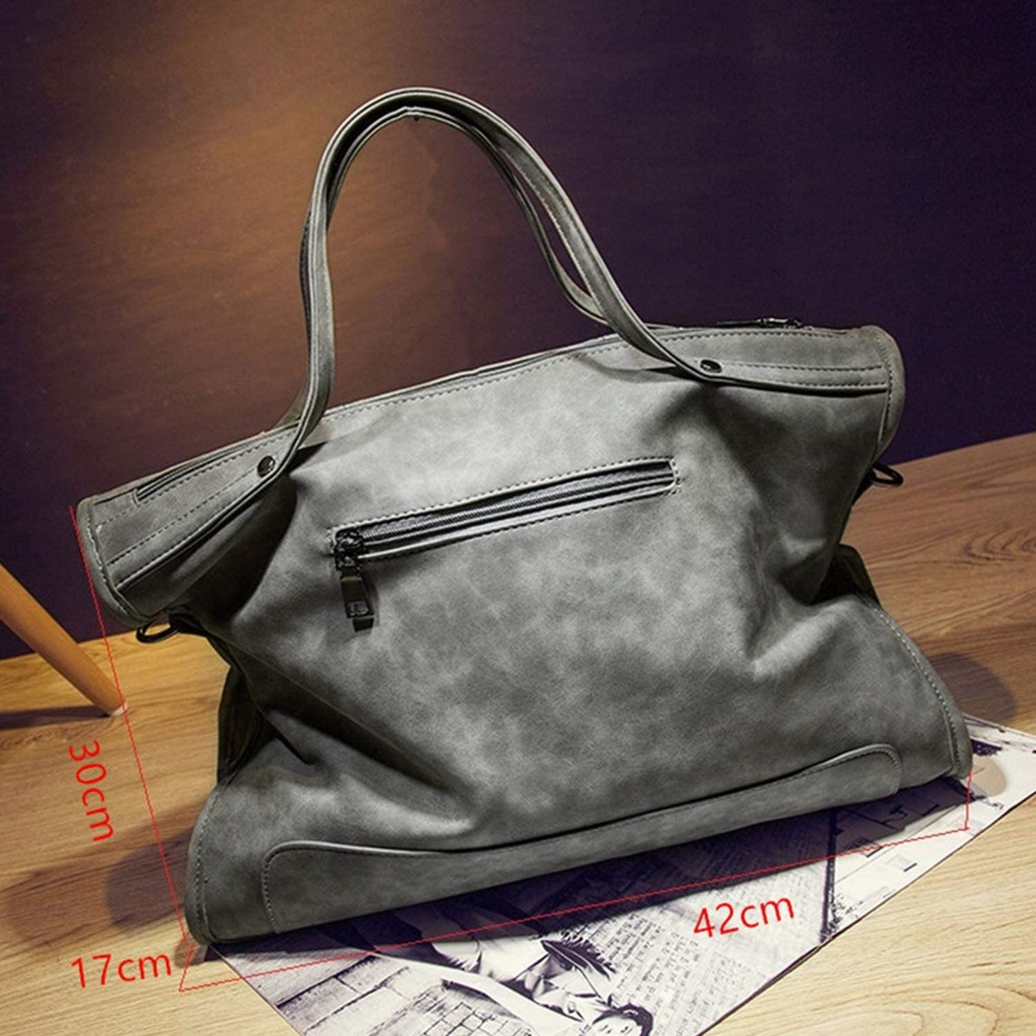 Women Rivet Faux Leather Handbag Shoulder Crossbody Tassel Messenger Tote Bag