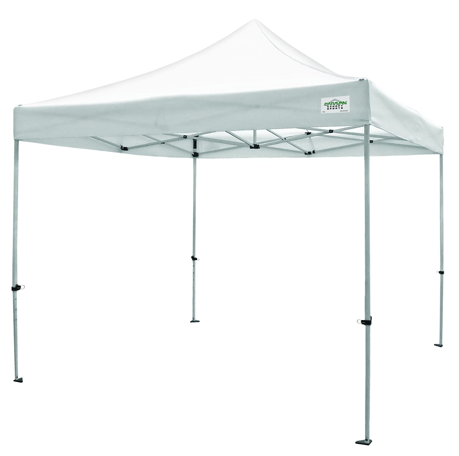 Amazon Com Caravan Canopy Titanshade  Foot Straight Leg Canopy White Sun Shelters Garden Outdoor