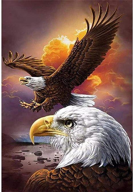 DIY Winged Eagle American 5D Diamond Painting Full Drill Cross Sticth Kit Arts