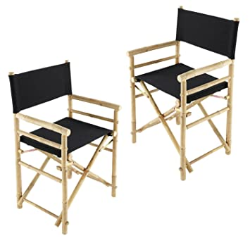 comfortable folding furniture hand crafted bamboo director chair treated canvas black chairs most office with arms