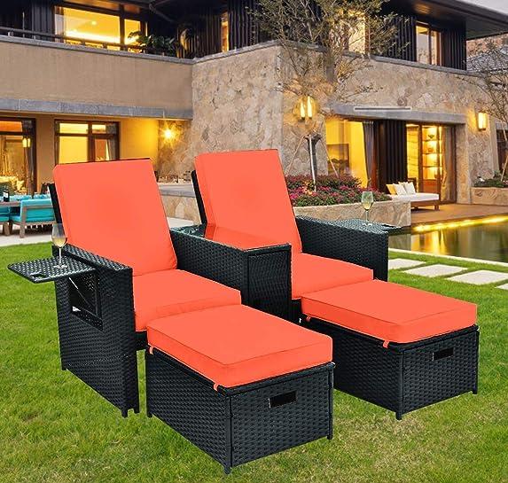 Grepatio 5Pcs Patio Sofa Set