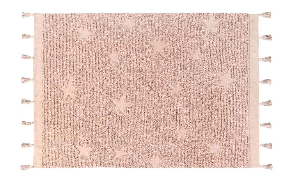 Lorena Canals Waschbarer Teppich Hippy Stars Natürliche Baumwolle -Vintage Nude- 175x120 cm
