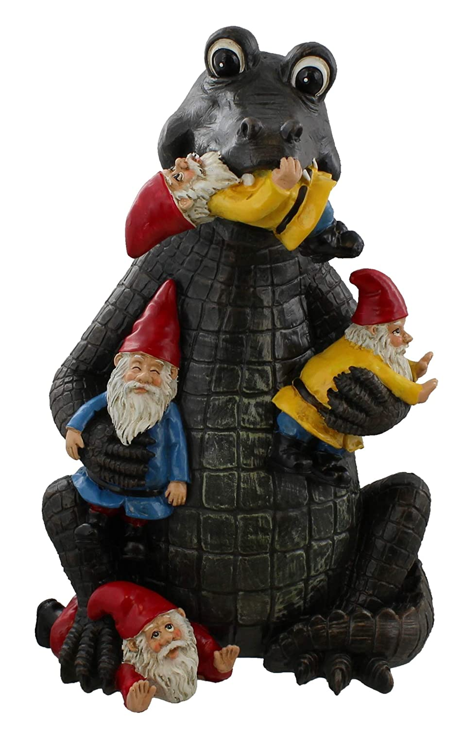 Old River Outdoors Large Funny Alligator/Garden Gnome Statue - Lawn Gator Art Statue