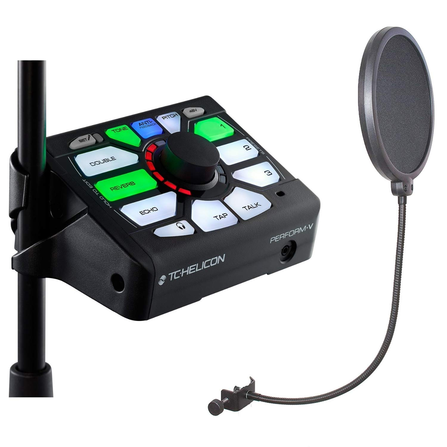 TC Helicon Perform V Vocal Effects Processor Bundle with CAD Audio Microphone Pop Screen Filter