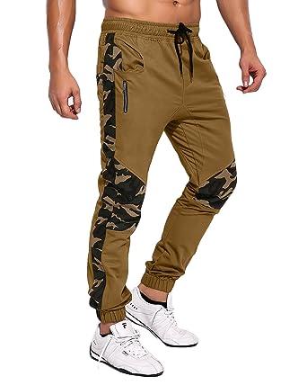 5a67337d8a6 MODCHOK Homme Pantalon Sarouel Chino Jogging Camouflage Combat Pants Sport  Slim
