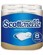 scottonelle papel higiénico suave y acolchada, 8 rollos
