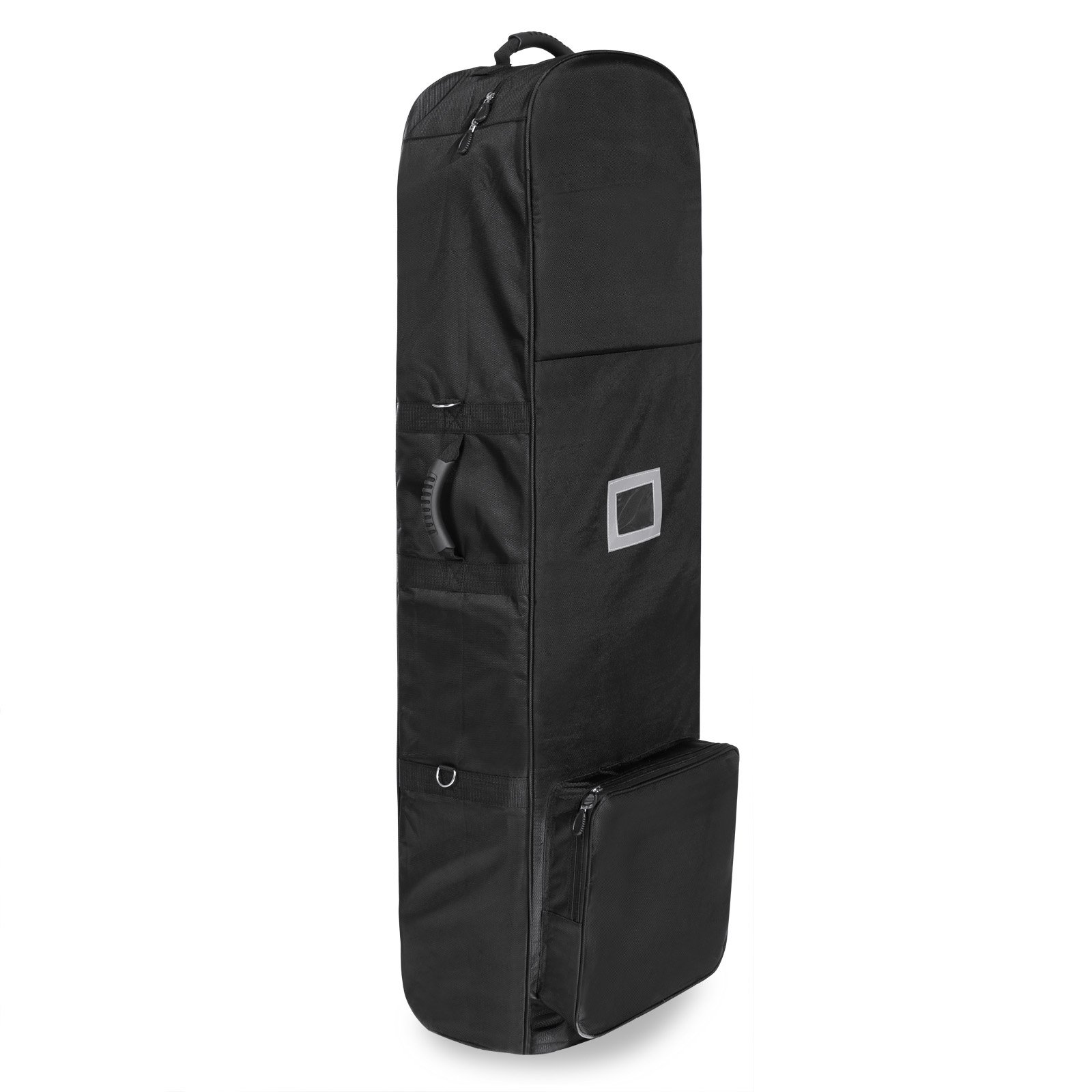 Golf Travel Bag PEATAO Padded Oxford Golf Club Travel Cover ,Black with Two Wheel (US STOCK)