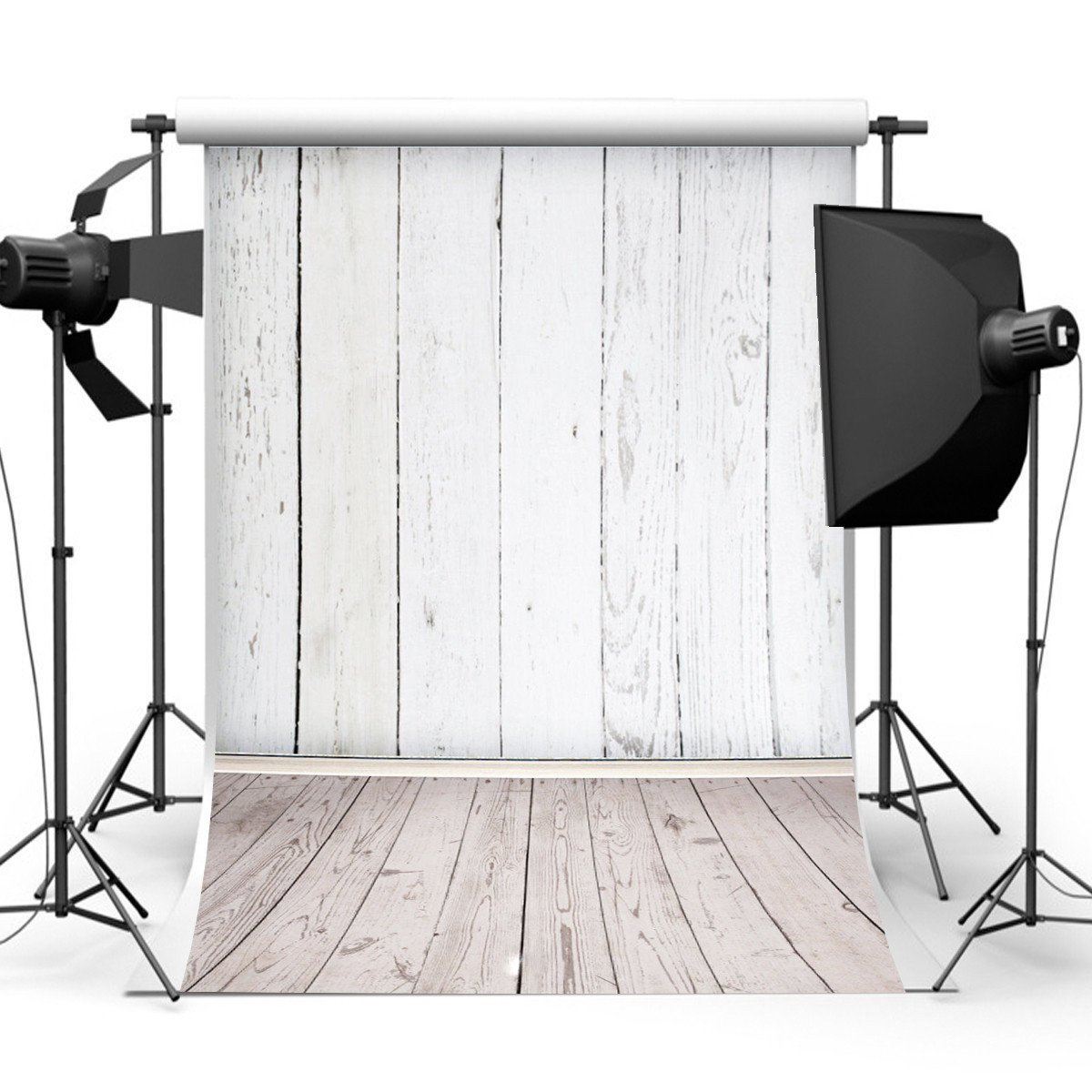 Amazon.com : Mohoo 5X7ft Silk White Wood Floor Photography Backdrop Studio  Prop Background : Camera U0026 Photo