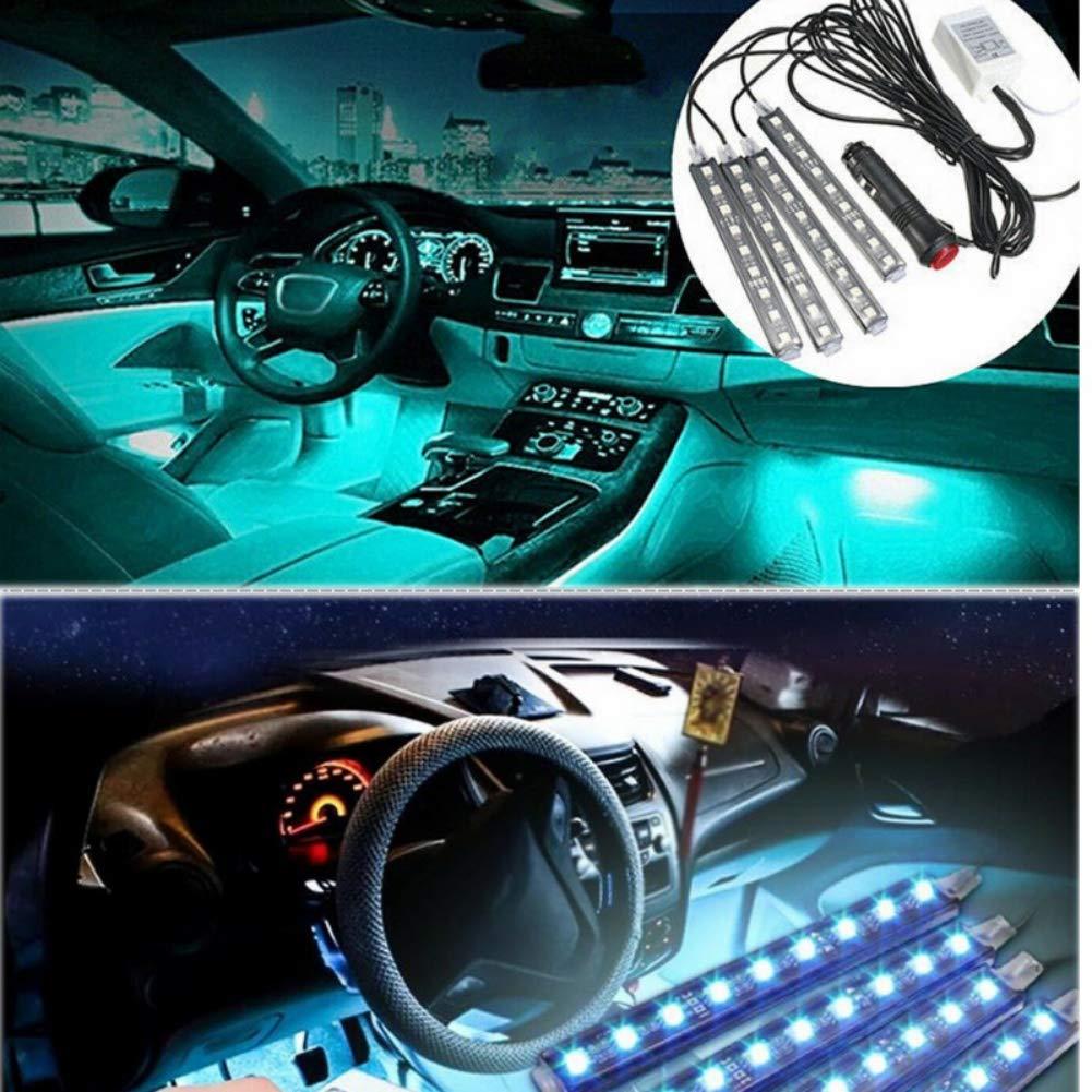 Weixinbuy Auto Dekoration Drahtlose Fernbedienung Licht Sprachsteuerung Innenboden Stehende Led Rgb Neon Streifen