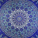 GLOBUS CHOICE INC. Hippie Tapestry Hippy Mandala Bohemian Tapestries Indian Dorm Decor Psychedelic Tapestry Wall Hanging Ethnic Decorative
