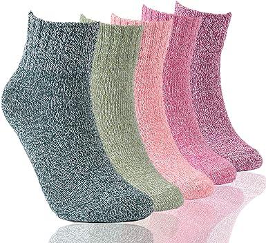 Little Girls Socks Cotton Cute Comfort Thick Socks 5 Pair Pack