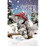 Me To You Tatty Teddy 3D Holographic Card - Wonderful Sister Christmas Card