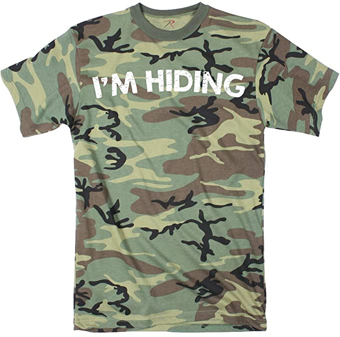 39ac47383 Crazy Dog T-Shirts Mens Im Hiding Camo Tee Shirt Funny Sarcastic Military  Tee for