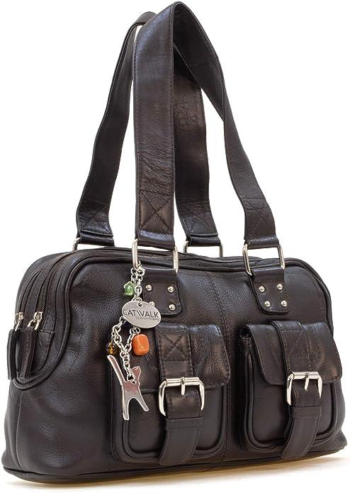 Catwalk Collection Handbags Leder UmhängetascheSchultertasche CAROLINE