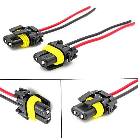 amazon com alla lighting 9006 hb4 socket female adapter wiring  alla lighting 9006 hb4 socket female adapter wiring harness wire for headlights headlamp fog light lamps