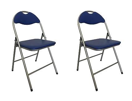 Sedie Pieghevoli Imbottite : Sedie pieghevoli comode di alta qualità in metallo imbottite in