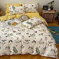 BlueBlue Unicorn Kids Duvet Cover Set Twin 100% Cotton Bedding for Boys Girls Teens Cartoon Cute Animal Rabbit Dinosaur…