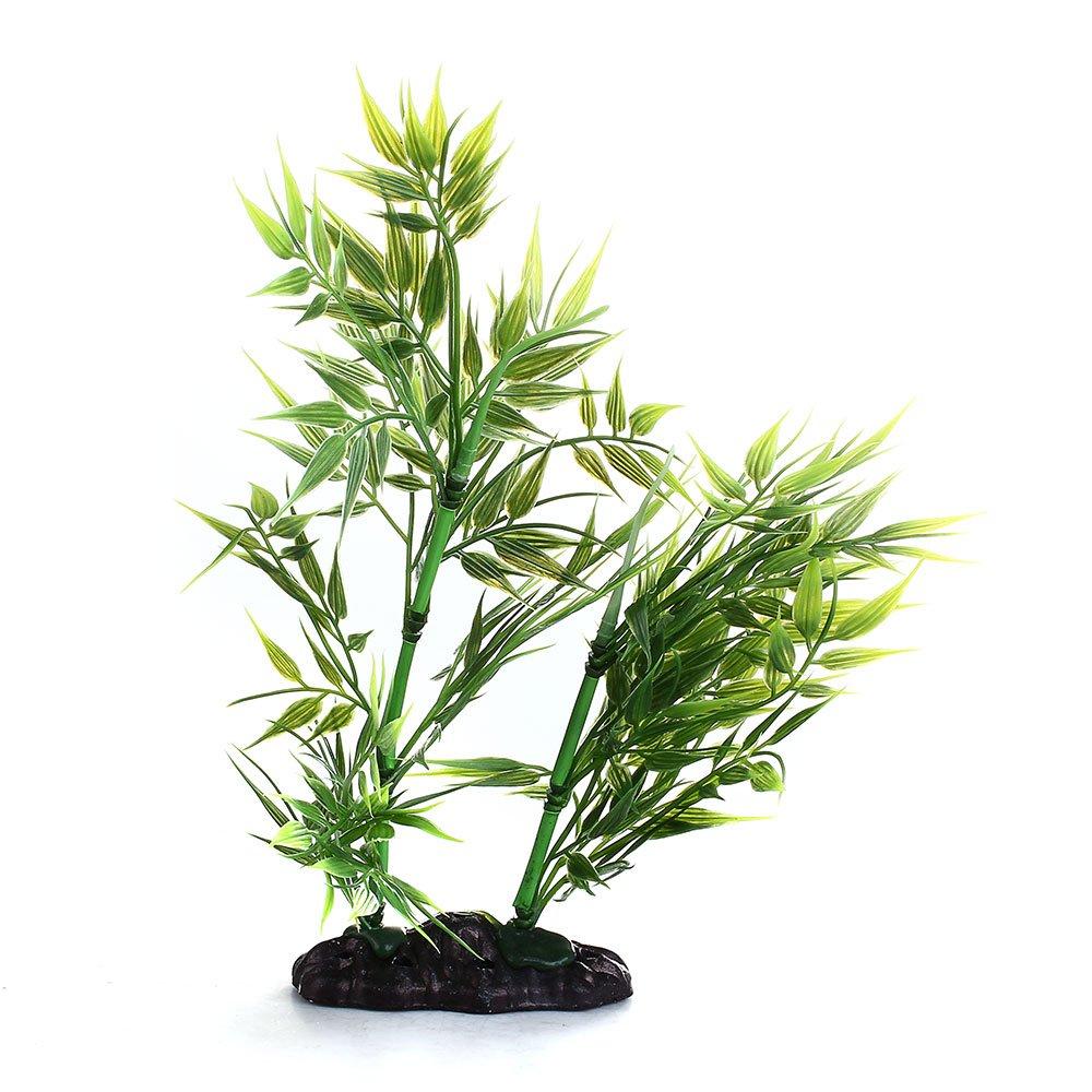 FACILLA®Planta Bambú Artificial Plástico Color Verde para Acuario Pecera Réptiles: Amazon.es: Hogar
