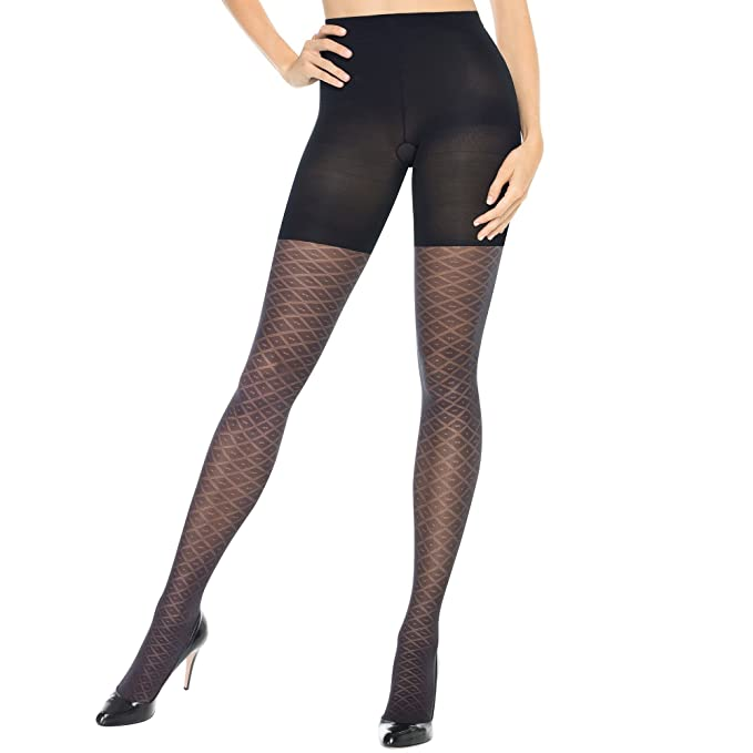 7edc115ddee Image Unavailable. Image not available for. Color  SPANX Assets patterned  preppy diamond Tight End Tights By Sara Blakely ...