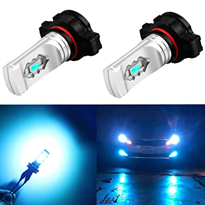 Alla Lighting 3600lm Xtreme Super Bright PSX24W LED Bulbs PSX24W Fog Light High Illumination ETI 56-SMD LED PSX24W Bulb 12276 2504 PSX24W Fog Lights Lamp Replacement - 8000K Ice Blue: Automotive