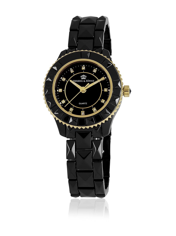 Herzog & SÖhne Damen-Armbanduhr XS Analog Quarz Keramik HSW0A-622B