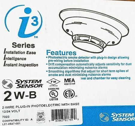 System Sensor i3 4WT-B Smoke Detector Photoelectric Ceiling Mount