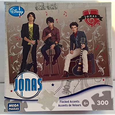 Jonas Brothers - Rock Stars - 300 Piece Velour Accent Jigsaw Puzzle: Toys & Games