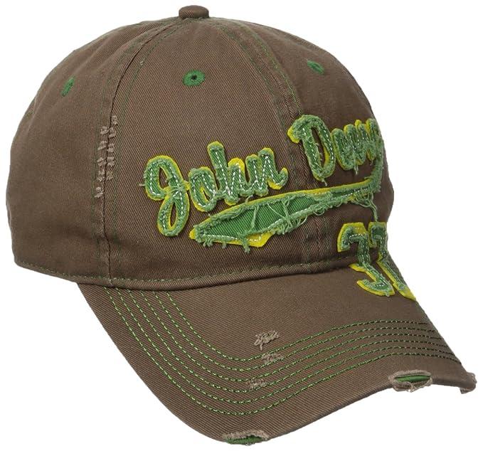819702566b1 John Deere Embroidered Logo Vintage Raw Edge Baseball Hat - One-Size - Men s  -