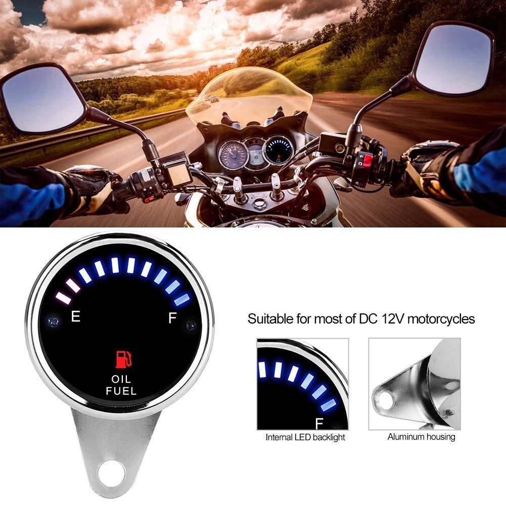 DC 12V Indicatore di livello carburante per autoveicolo universale Indicatore di livello a LED Indicatore di livello elettrico Indicatore del livello dellolio Indicatore di livello del carburante