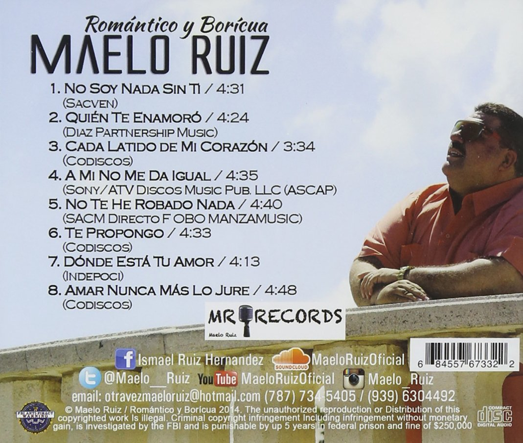 Maelo Ruiz - Romantico Y Boricua - Amazon.com Music