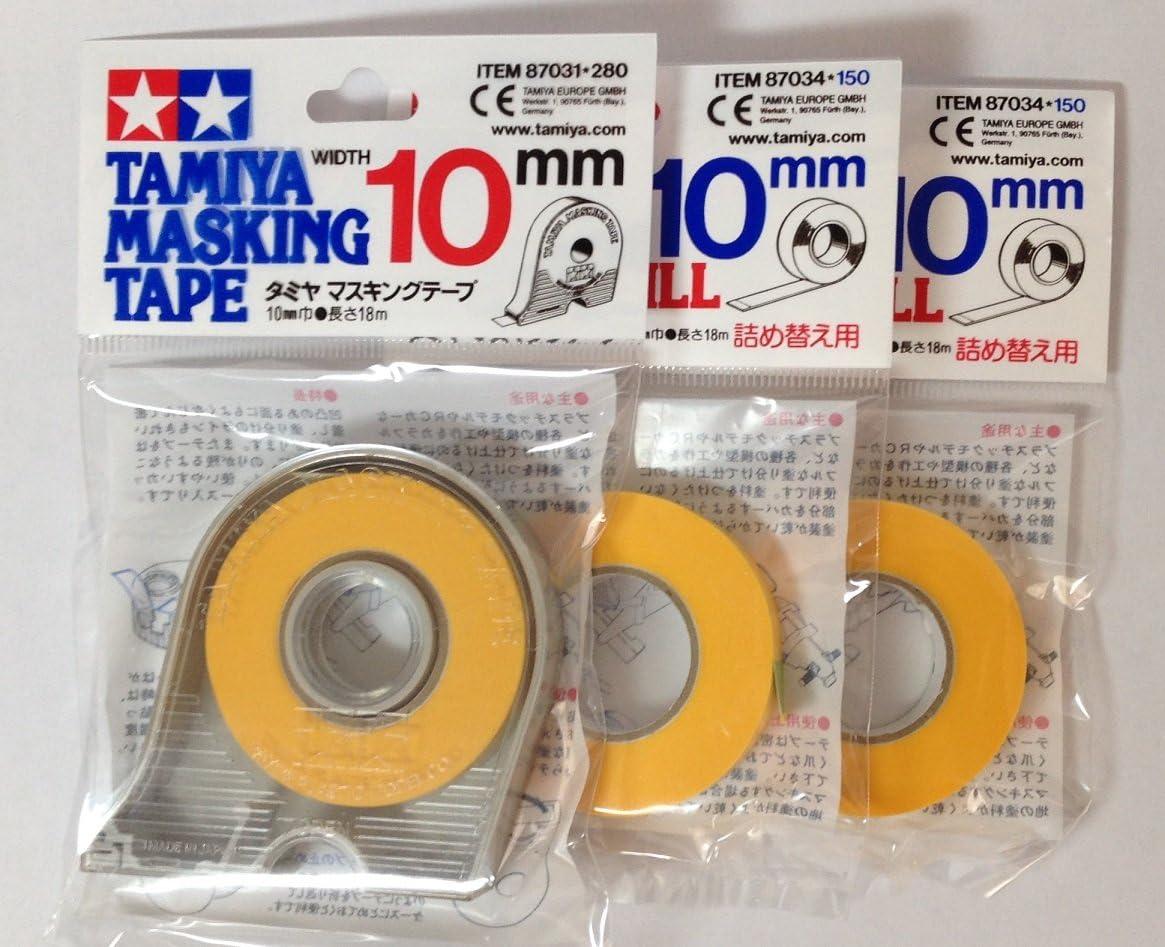 TAMIYA 10mm Masking Tape with 2pcs Refill: Toys & Games