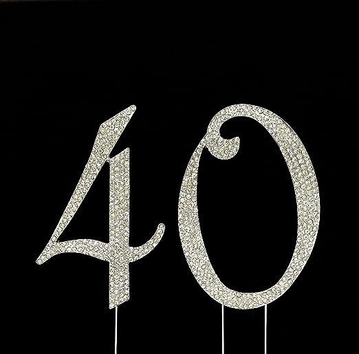 Amazon.com: Número 40 para 40th Cumpleaños o aniversario ...