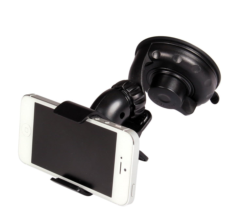 Goodyear 77050 Edge Porta Telefono//Smartphone//Navigatori di Piccole Dimensioni con Fissaggio a Ventosa per Auto con Rotazione 360/° Nero