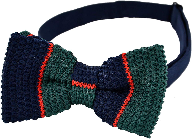 100% Original Darse Prisa DonDon pajarita de punto combinada y con la longitud ajustable 11 x 6 cm Verde-azul-rojo eTSGyj MCo0W9