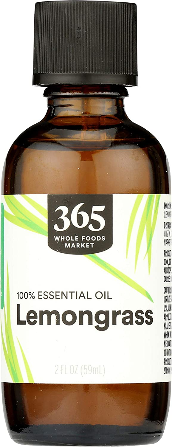 365 by Whole Foods Market, Aromatherapy 100% Essential Oil, Lemongrass, 2 Fl Oz