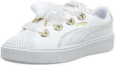 364724be92 Puma Platform Kiss ATH Lux Wn's, Sneakers Basses Femme, Blanc White 01, 37.5