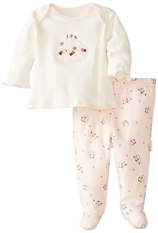 ad0ba114f50d Vitamins Baby Baby-Girls Newborn Lamb 2 Piece Footed Pajama Set ...
