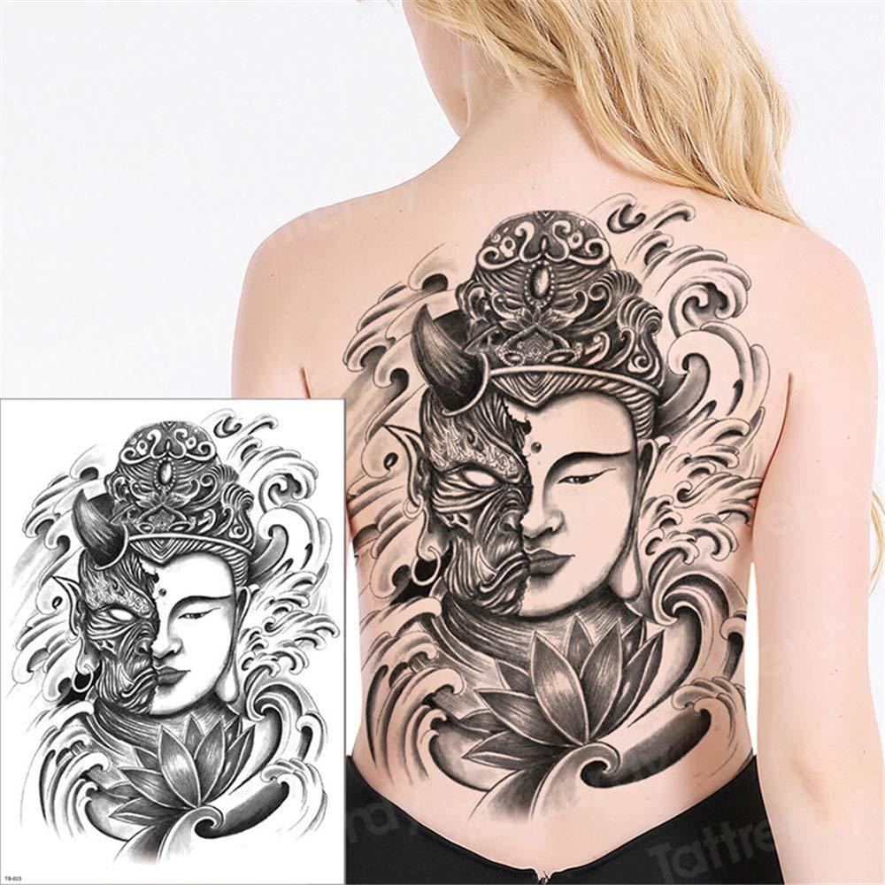 tzxdbh 3pcs Tatuaje Temporal de Las Mujeres Tatuaje Grande ...