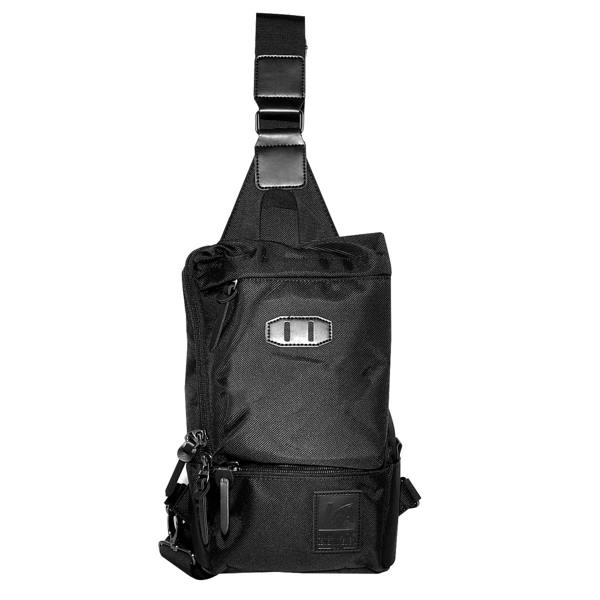 LC Prime Sling Bag Chest Bag Shoulder Backpack Rucksack Water Resistant Sack Pouch for Travel Outdoor Cycling Camping Hiking Mountaining Cavas oxford black, by
