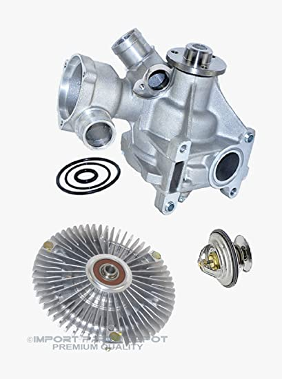 Amazon.com: Water Pump + Fan Clutch + Thermostat Kit for Mercedes-Benz W201 190E 2.6L Premium 1032003701/1032000522/1102000515 (3pcs): Automotive