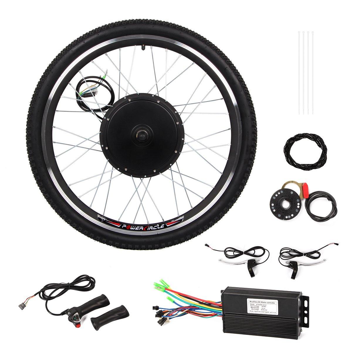 Esright 26'' Bike Rear Wheel Electric Motor Bicycle Conversion Kit (48V 1000W )