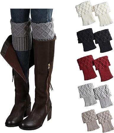 THXXE Boot Cuffs, 5 Pairs Womens Winter
