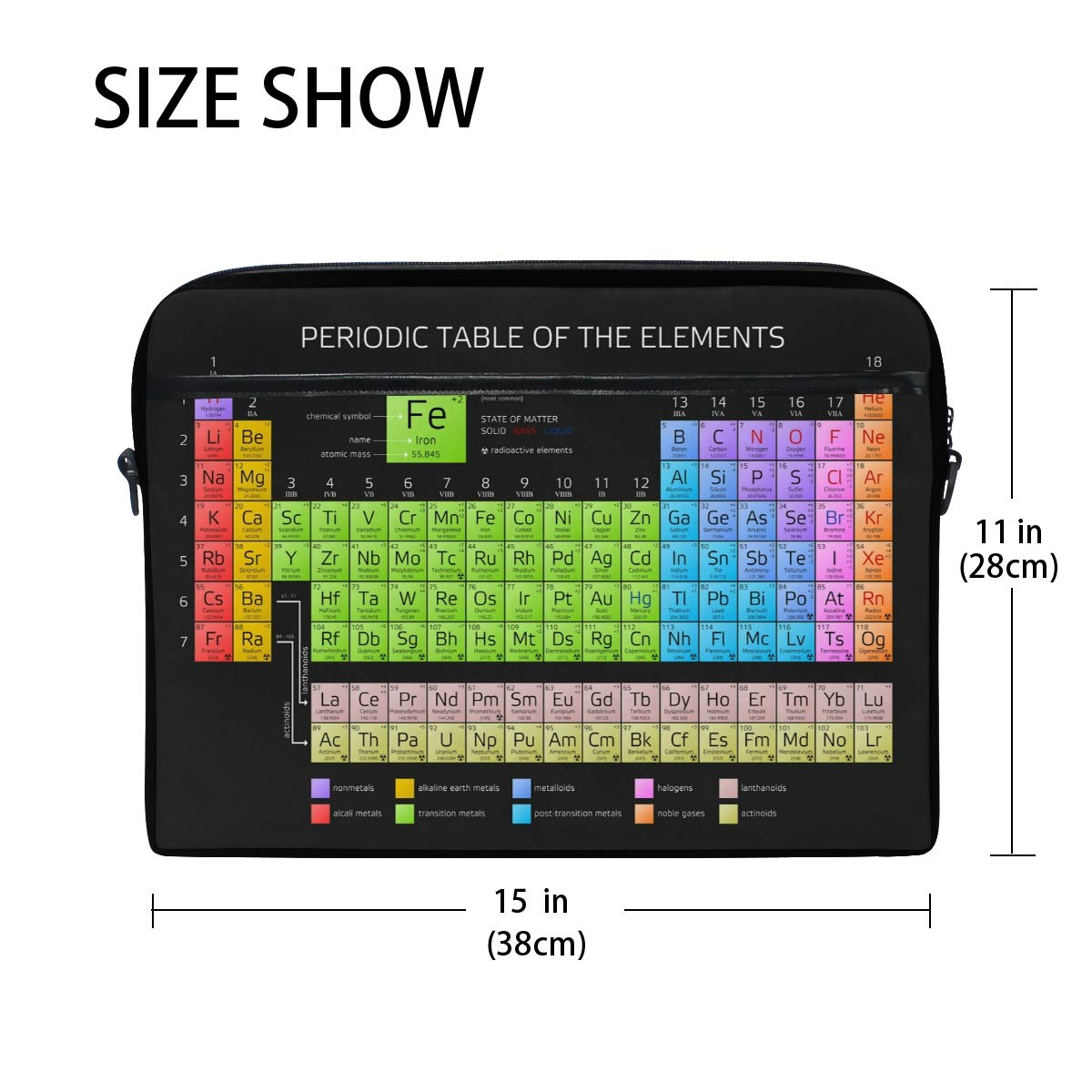94e4cd330fe7 Amazon.com: WXLIFE Periodic Table of The Elements 13 13.3 14 Inch ...