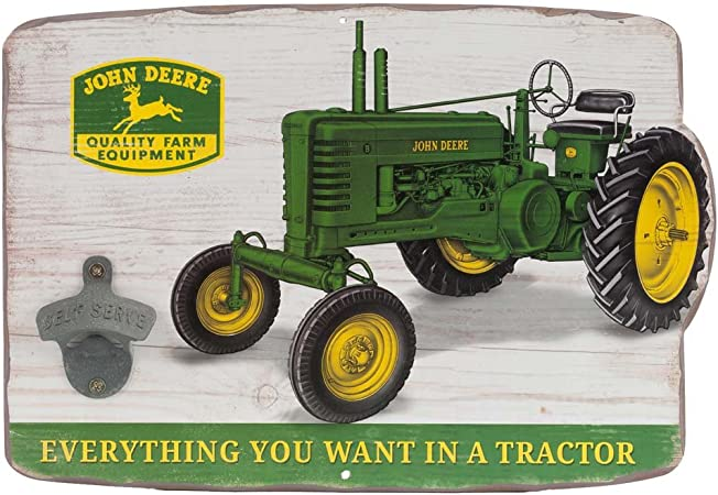 John Deere Farm Equipment Tin Metal Sign Art Vintage Style Man Cave Tractor Y