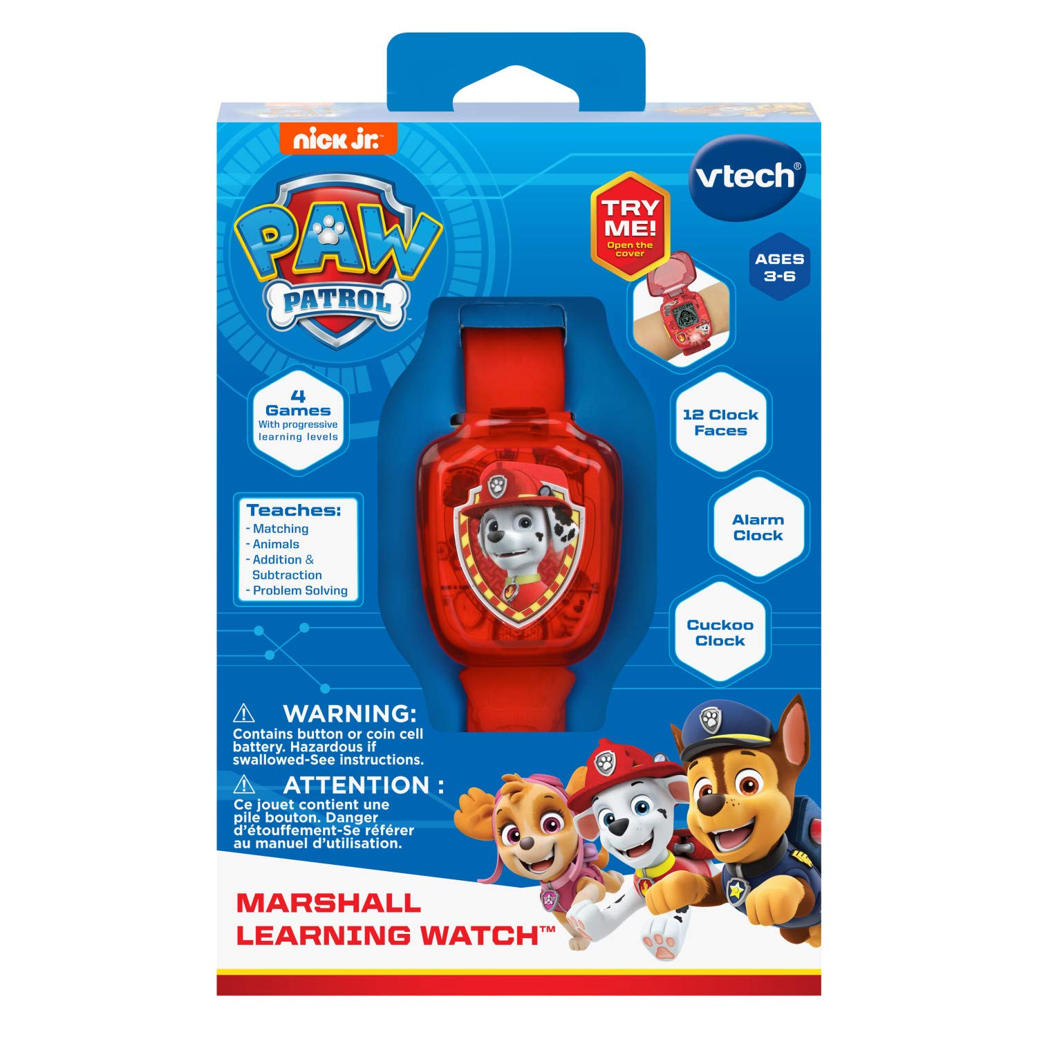 VTech PAW Patrol Marshall Learning Watch, Red by VTech (Image #5)