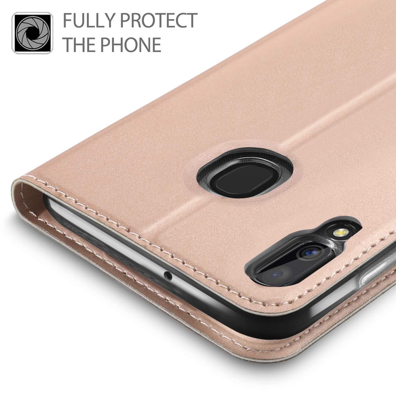per Samsung Galaxy A40 Smartphone. Flip Custodia Carte di Credito da Funzione Stand in PU Premium Protezione di Lunga Durata GEEMAI per Samsung Galaxy A40 Cover Nero