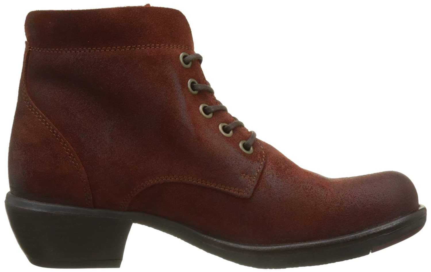 FLY London Braun Damen Mesu780fly Kurzschaft Stiefel Braun London (Brick) 00e201