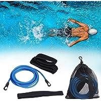 Wiixiong - Cinturones de Entrenamiento para Nadar, arnés estático de natación (3 m), Cuerdas elásticas de Resistencia para Nadar a Distancia, Adultos, niños