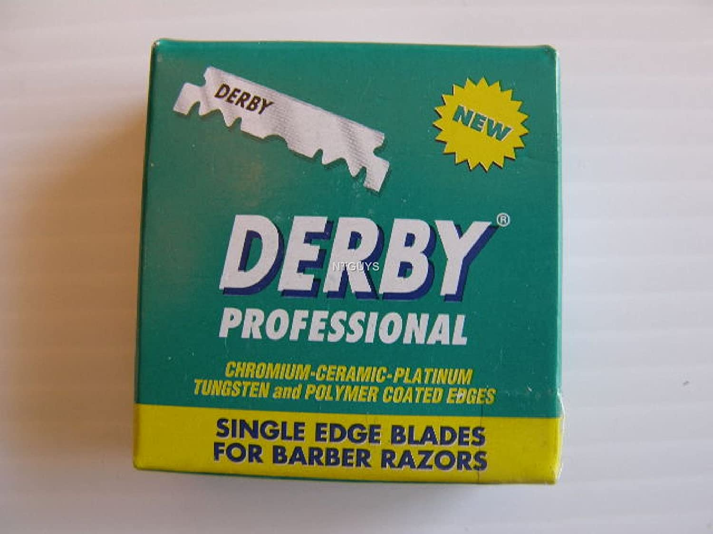 100 DERBY Single Edge Razor Blades for Barbers Platinum coated